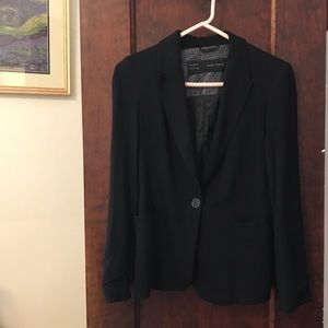 Zara black blazer Size S, soft & structured